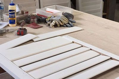 fabricating custom fitted window shutters