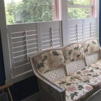 Window Shutters on a living room window
