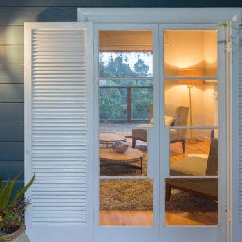 Shutters for a patio door