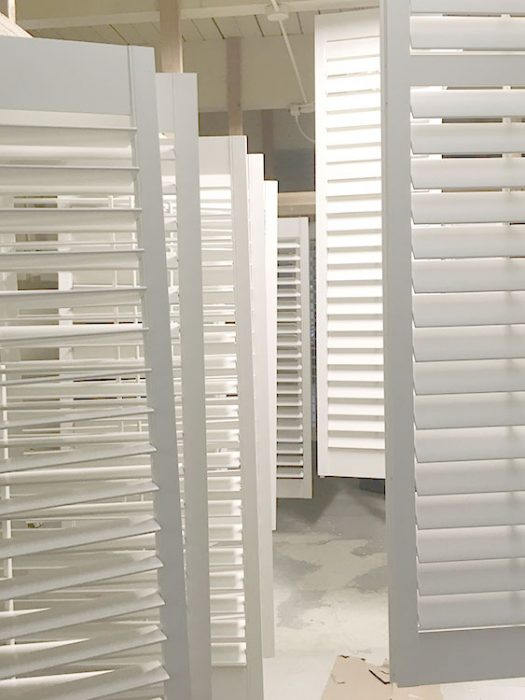 Wooden Plantation Shutters in Production