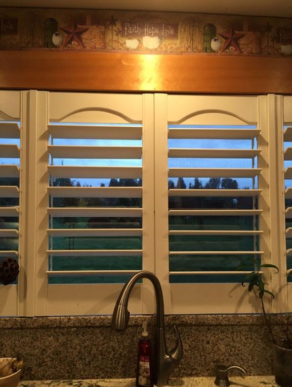 Wooden Window Shutters In A Kitchen