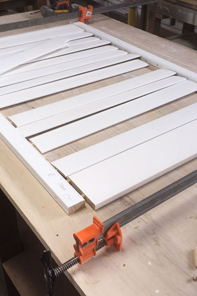Assembling Wooden Window Shutters