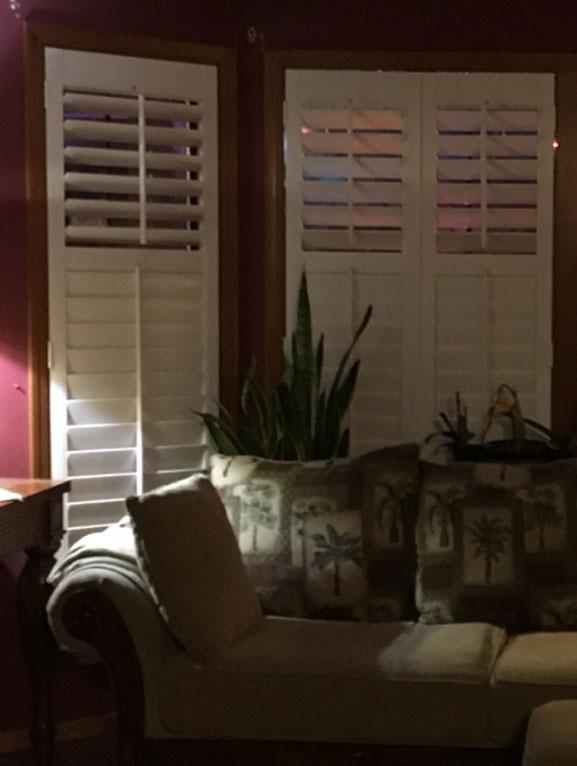 Living Room Window Shutters in SW Washington