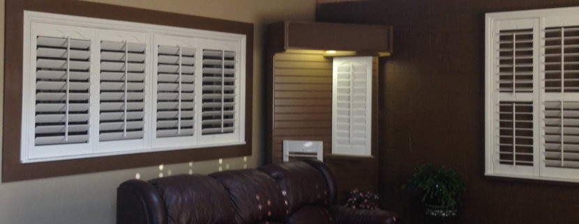 Living Room Window Shutters in Vancouver WA